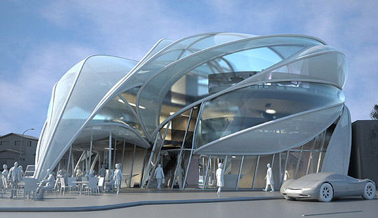 11 Industrial Design Futuristic Building Images