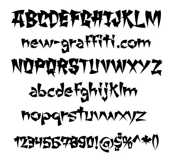 Cool Font Styles Alphabet Via Free Graffiti