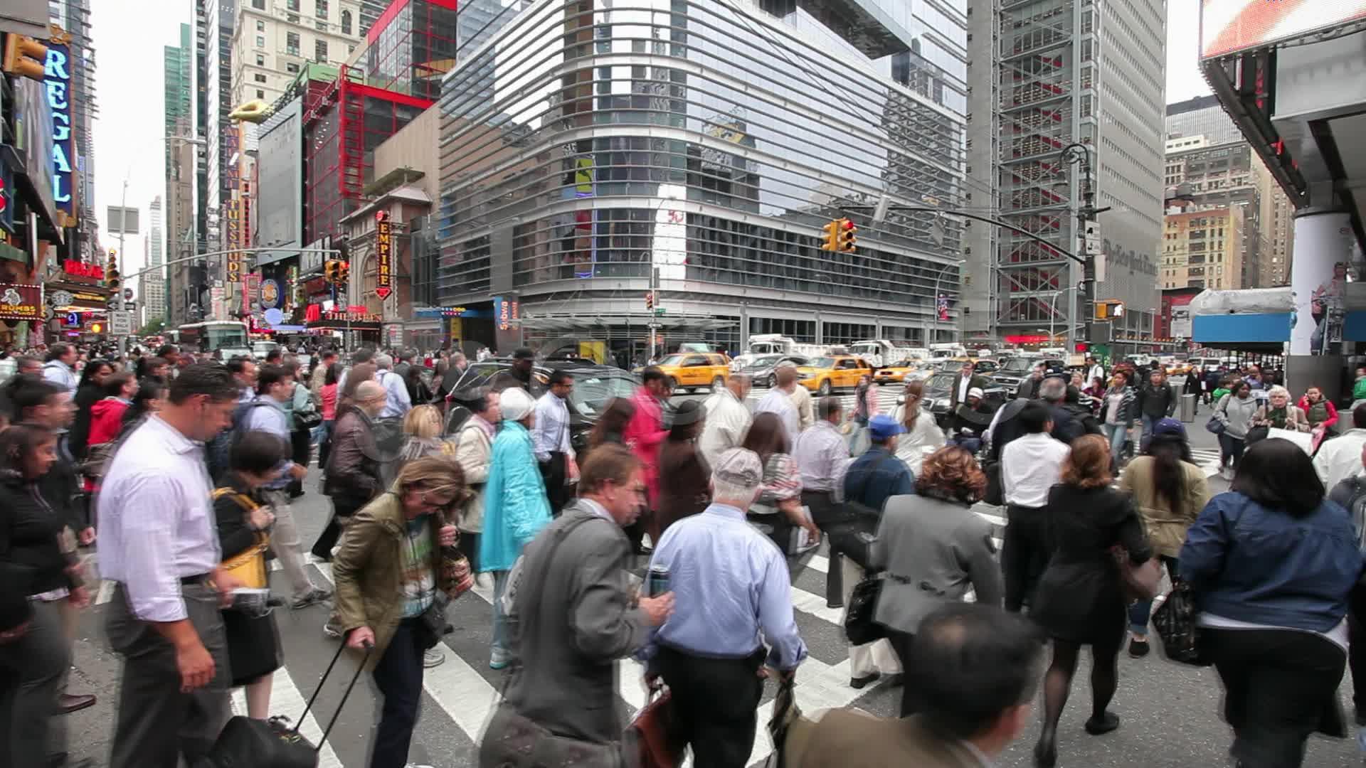 Crowd of People Walking Blurred