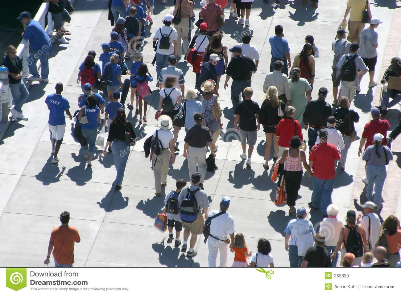 Crowd of People Walking Stock-Photo
