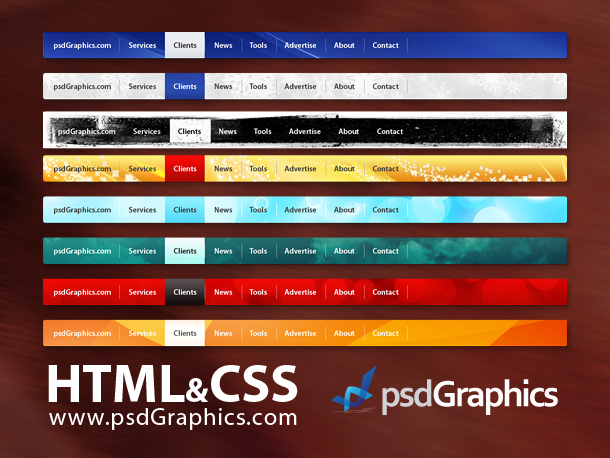 13 PSD Web Menu Box Black Images