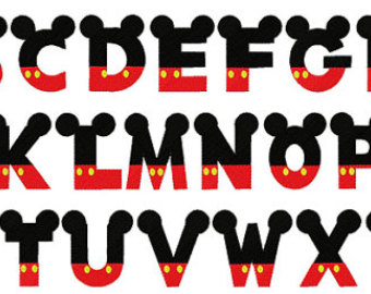 18 Mickey Mouse Font Alphabet Images - Mickey Mouse Alphabet