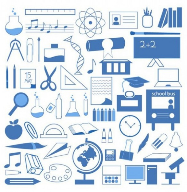 13 Free Vector School Icons Images