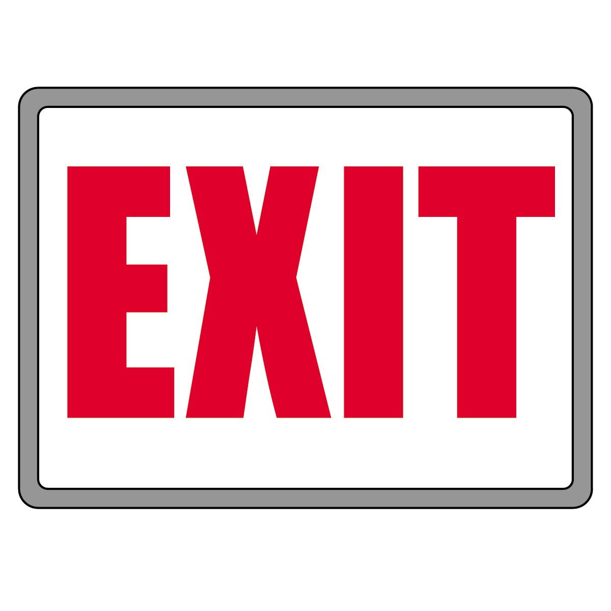Exit Sign Clip Art