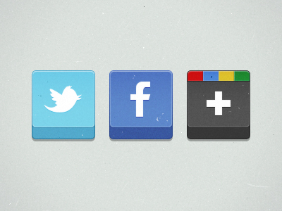 12 Facebook Twitter Google Plus Icons Images