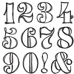 13 For Fonts Fancy Number 100 Images