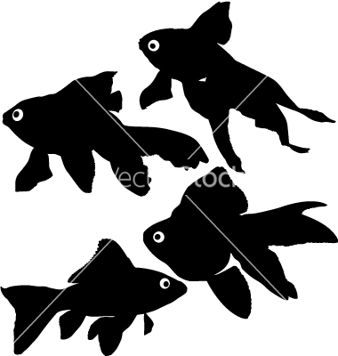 9 Goldfish Silhouette Vector Images