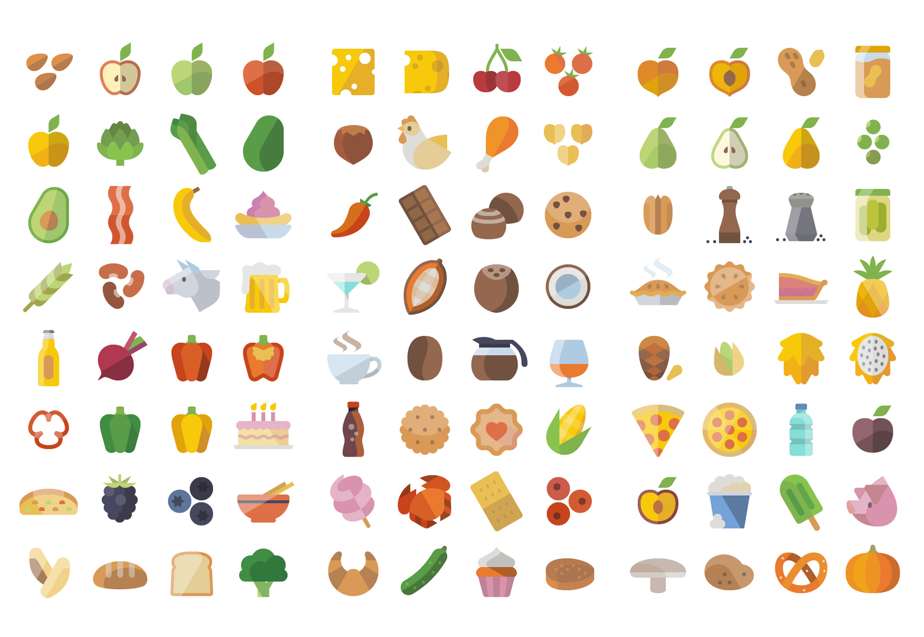 Flat Icon Set Food