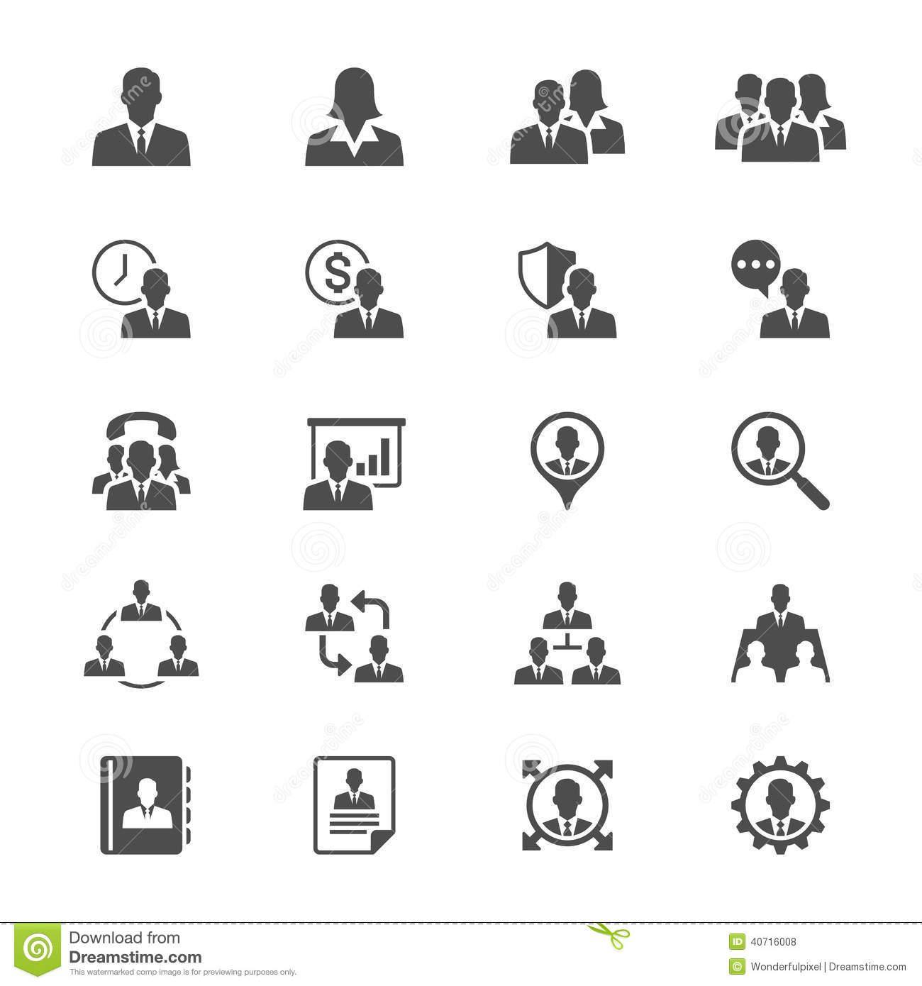 Flat Icons Business Training