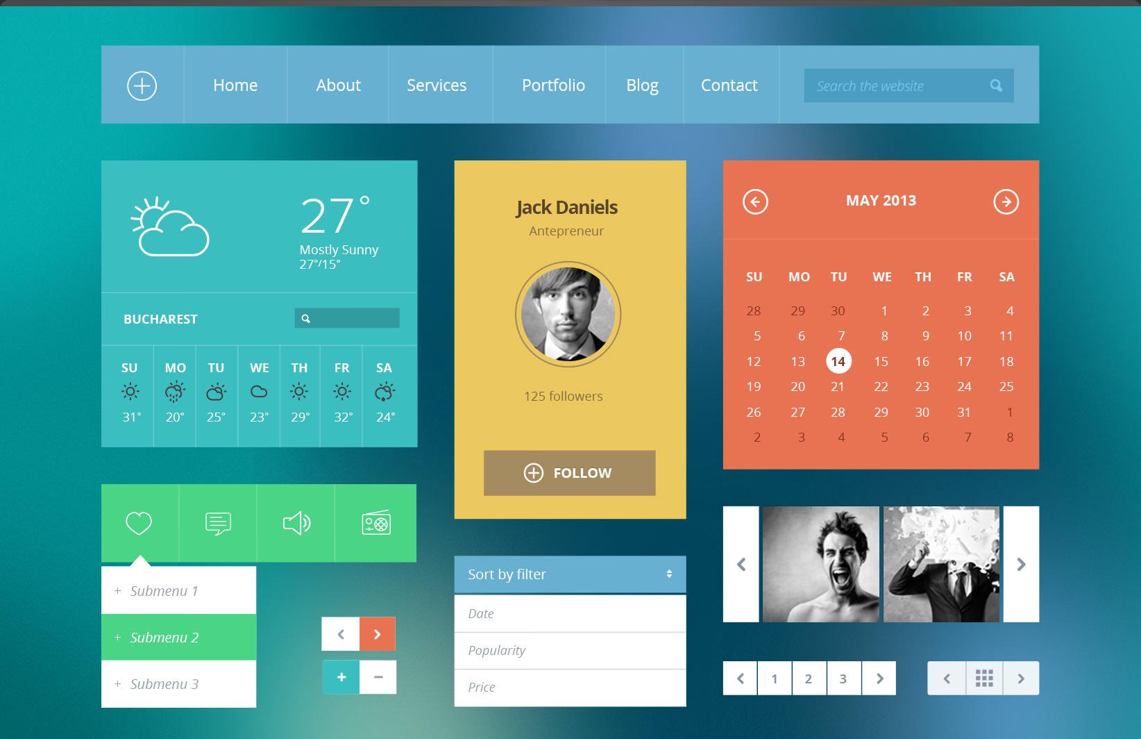 Flat UI Modern Icons
