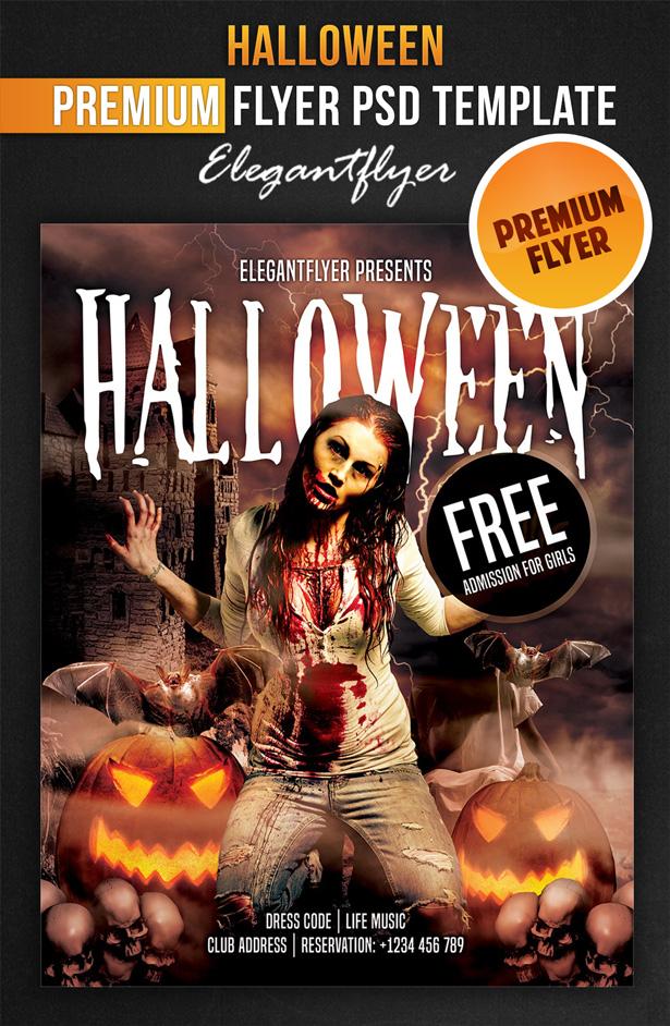 Flyers Facebook Cover Halloween