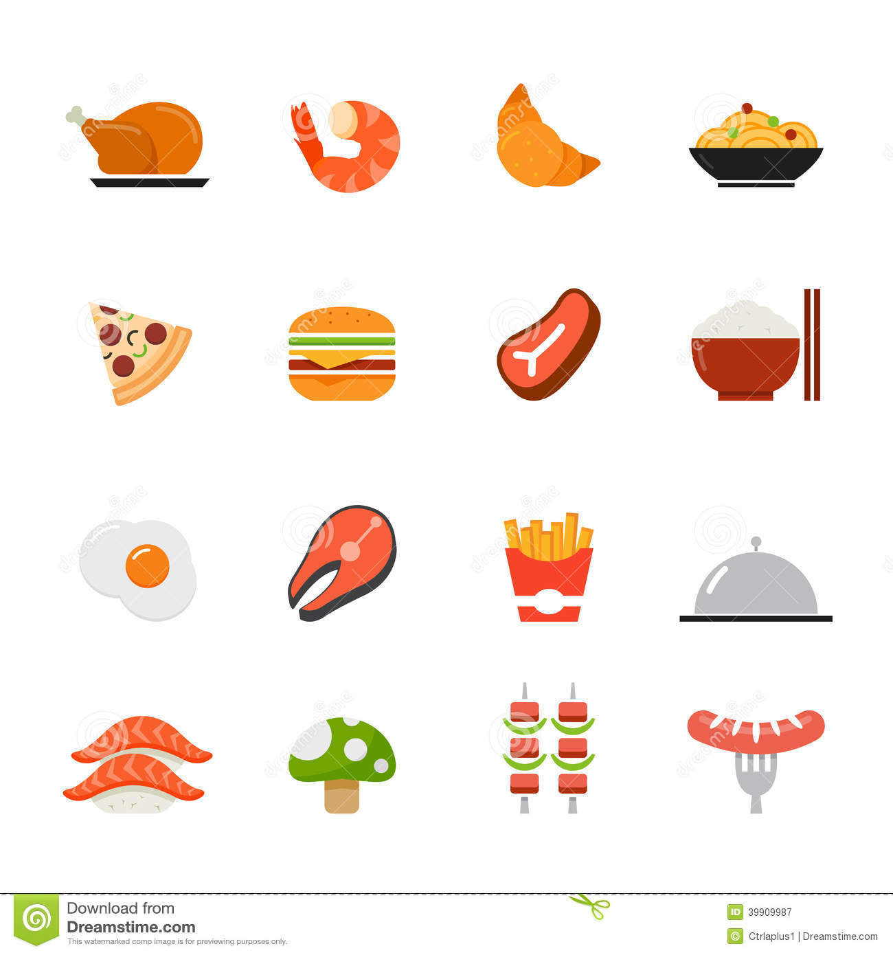 Food Icon Flat Design