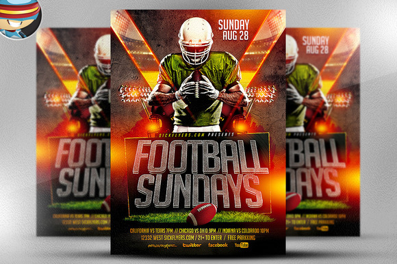 Football Camp Flyer Template Free Gallery Template Design Free