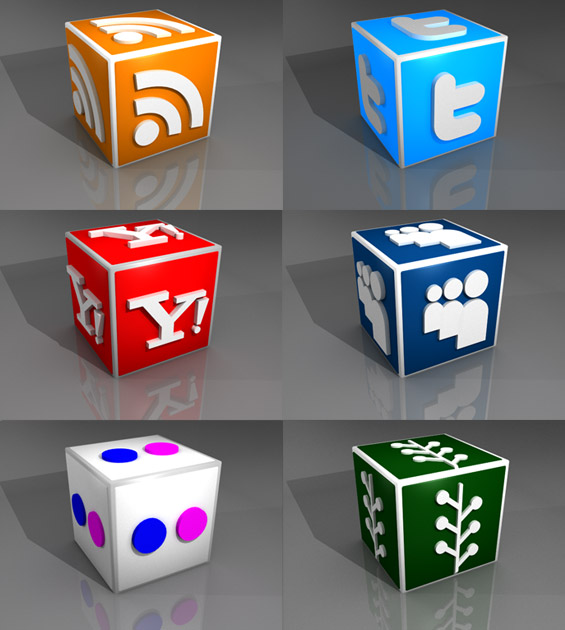 Free 3D Social Media Icons