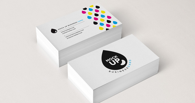 11 Business Card Mockups PSD Images