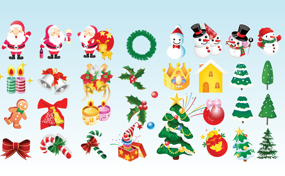 Free Christmas Icons Clip Art
