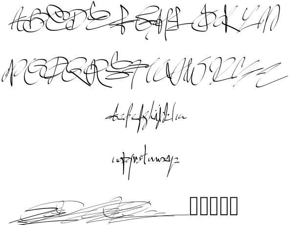 11 Best Signature Font Images