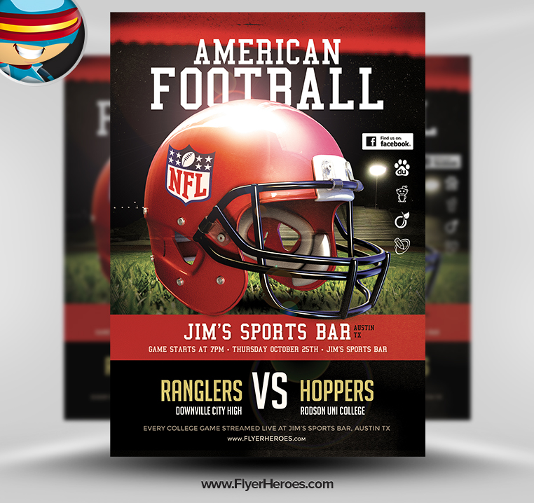 16 Photoshop Psd Flyers Nfl Images Football Flyer Templates For