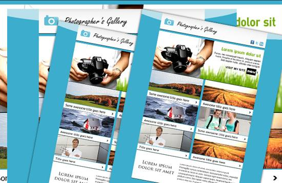 11 Newsletter Template PSD Images