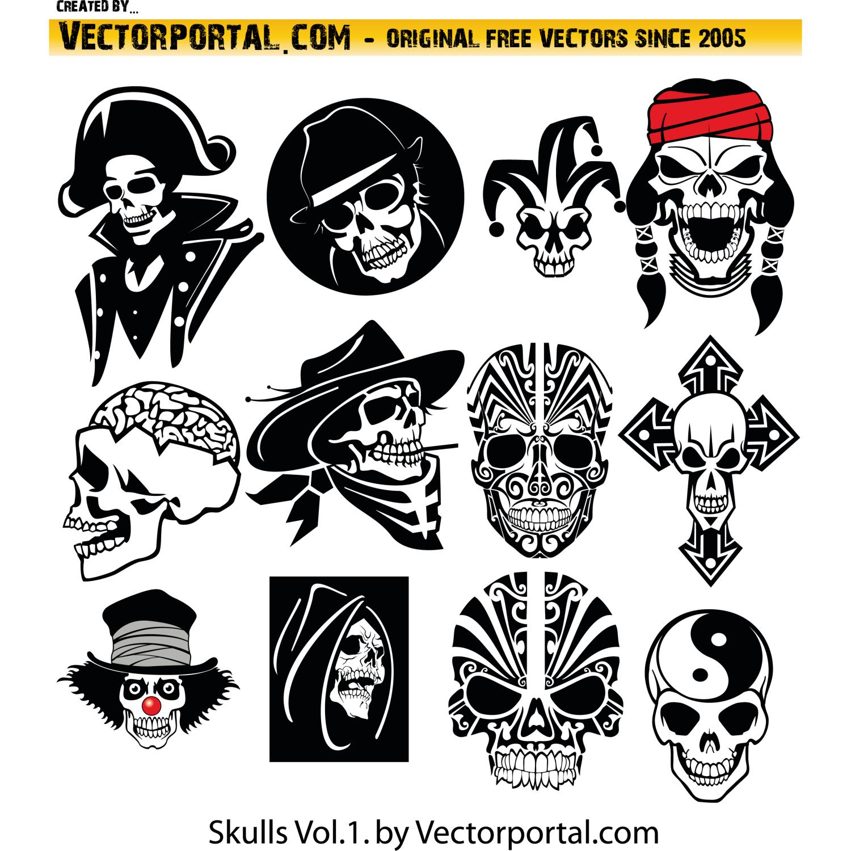 Free Skull Vector Clip Art