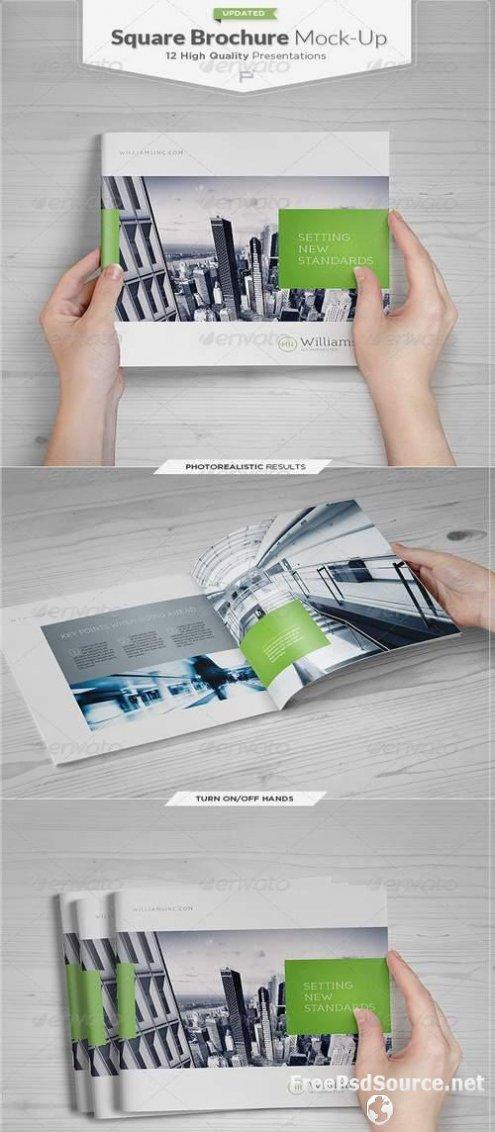 Free Square Brochure Mockups PSD