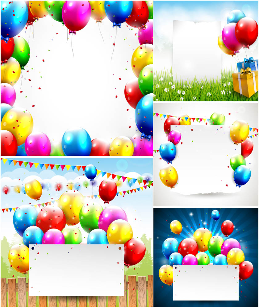 Free Vector Birthday Balloons