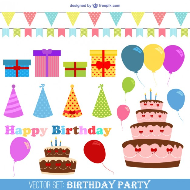 Free Vector Birthday Party