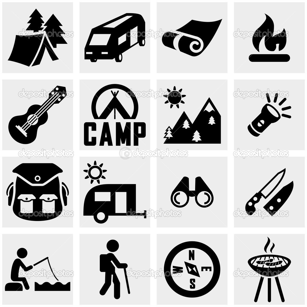 20 Vector Camping Icons Images - Camping Icons Clip Art ...