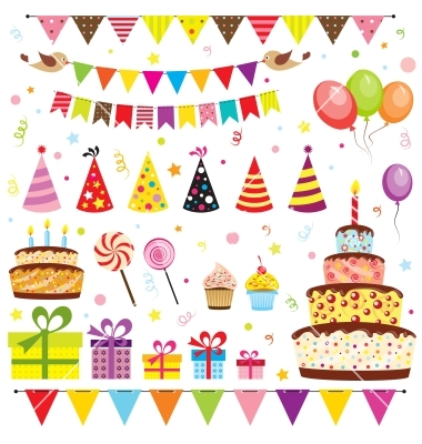 Free Vector Images Birthday Party