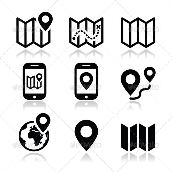 Free Vector Map Icons