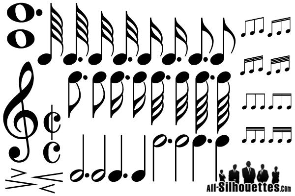 Free Vector Music Notes Symbols