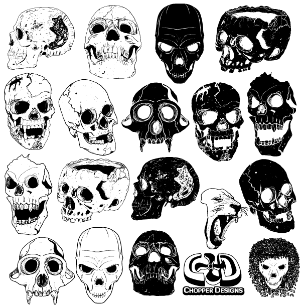 Free Vector Skull Graphics