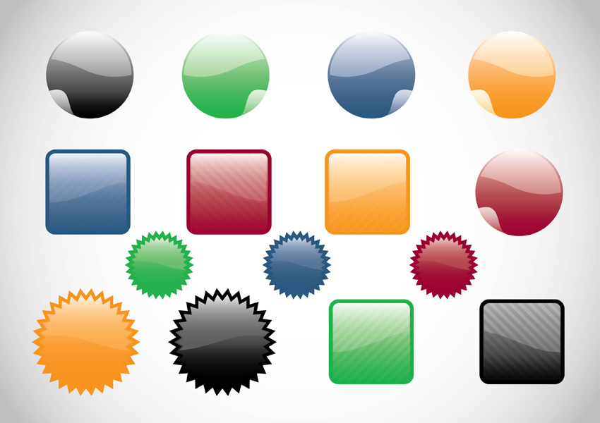 Free Vector Web Buttons