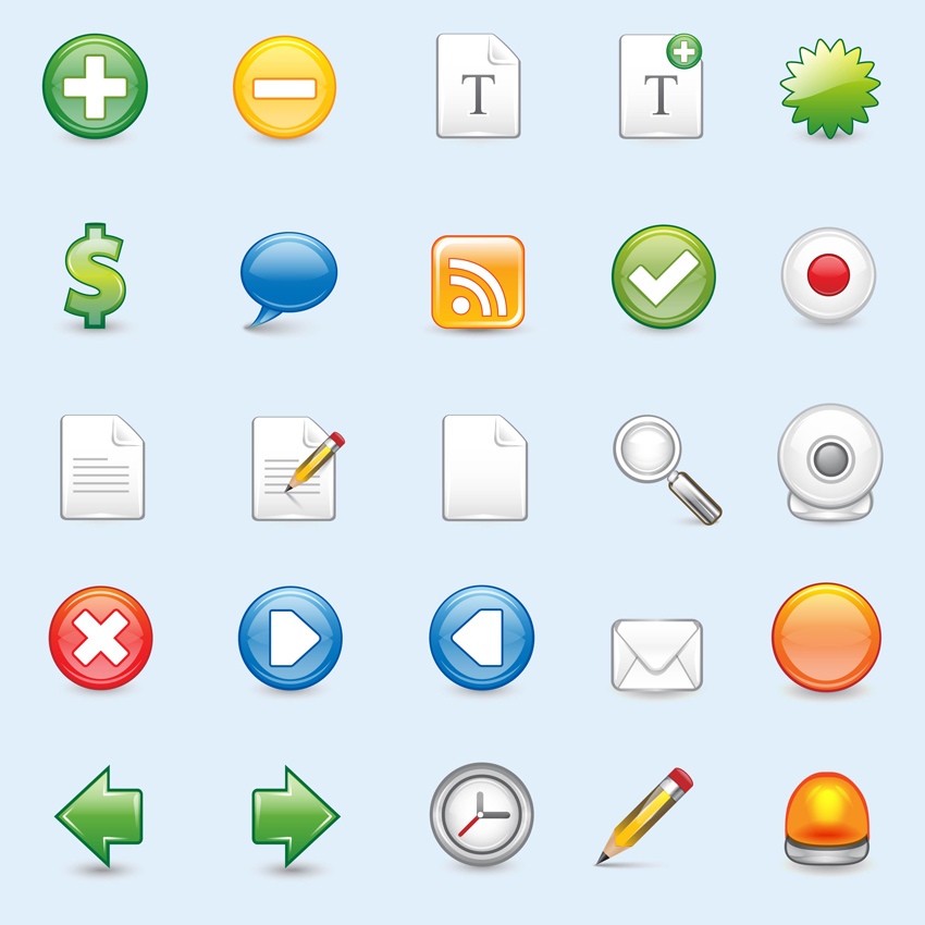 Free Vector Web Icons