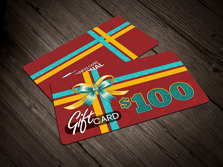 9 Green Gift Card PSD Images