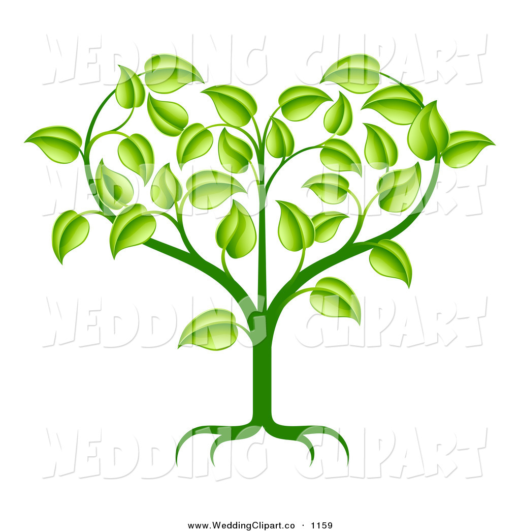 Growing Plant Clip Art Heart