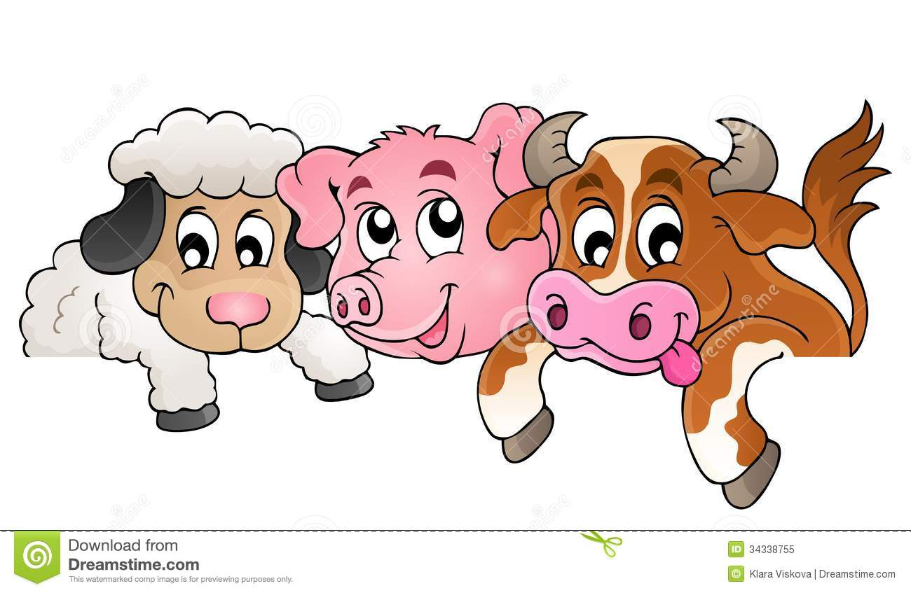 Happy Farm Animal Clip Art