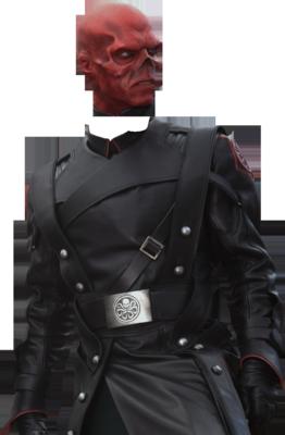 Headless Man in Black Suit