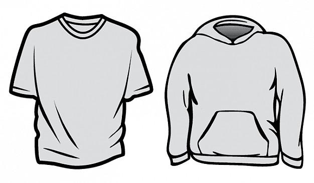 Hoodie T-Shirt Template Vector