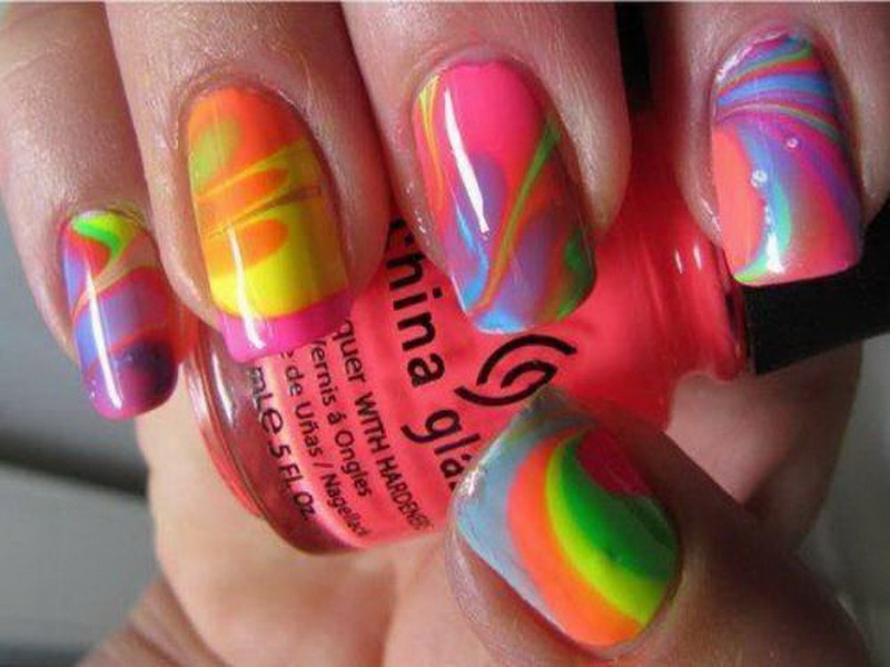 How to Get Tie Dye Nails