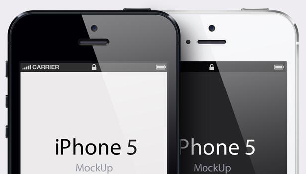 iPhone 5 PSD Template
