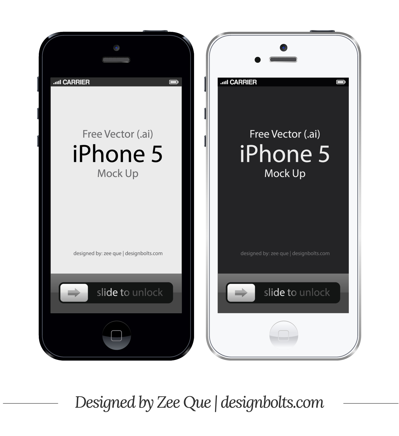 iPhone 5 Vector Free
