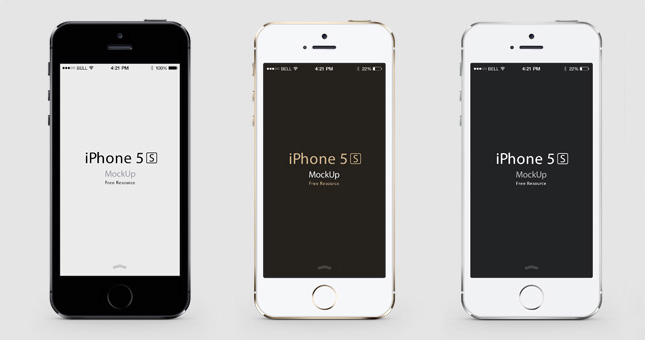 iPhone 5S Gold Front and Back
