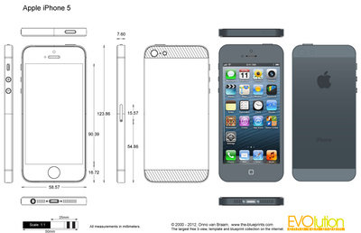 iPhone Vector Outline Template