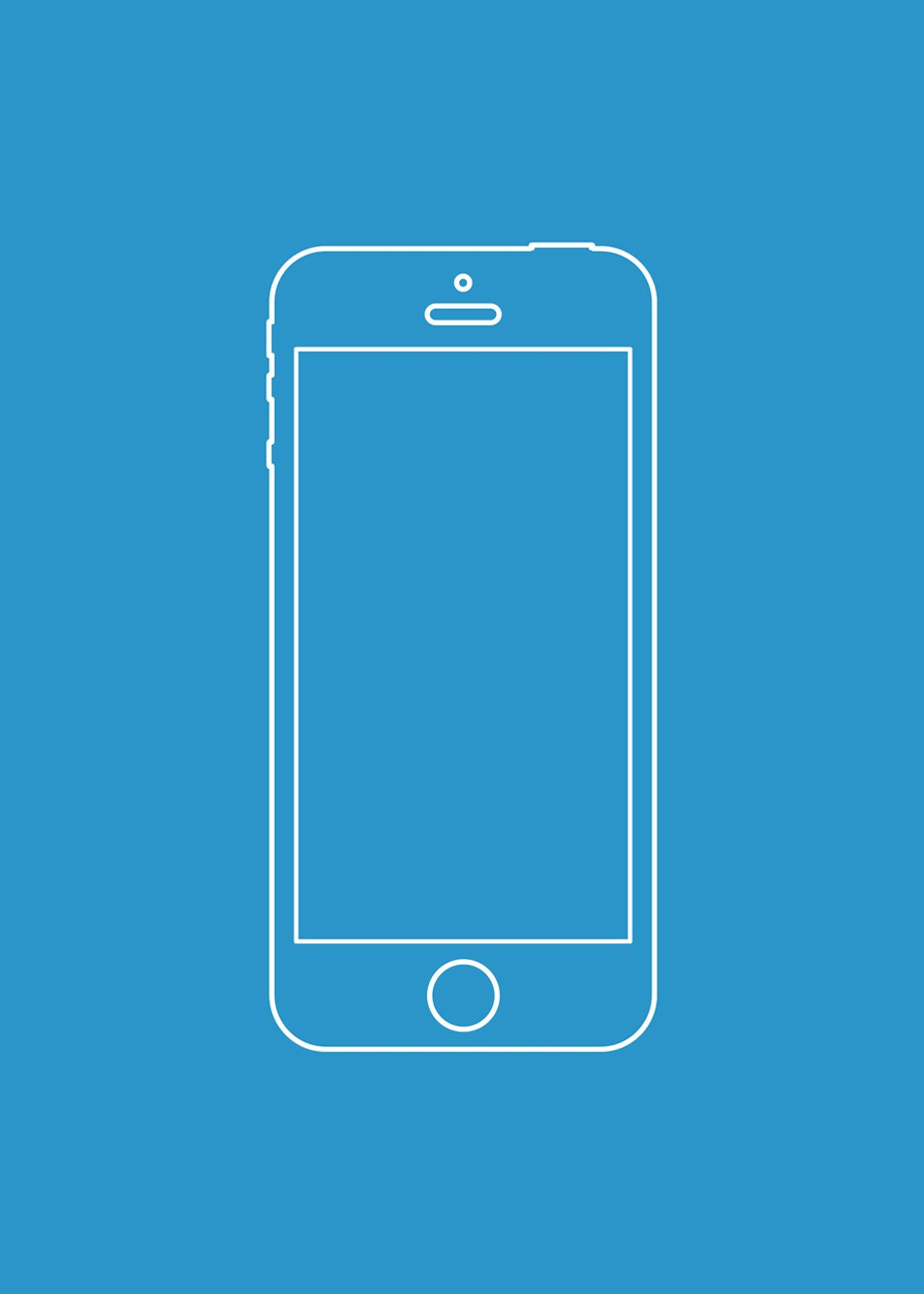 iPhone Wireframe Vector Template