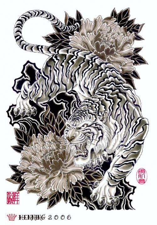Japanese Tiger Tattoo Designs