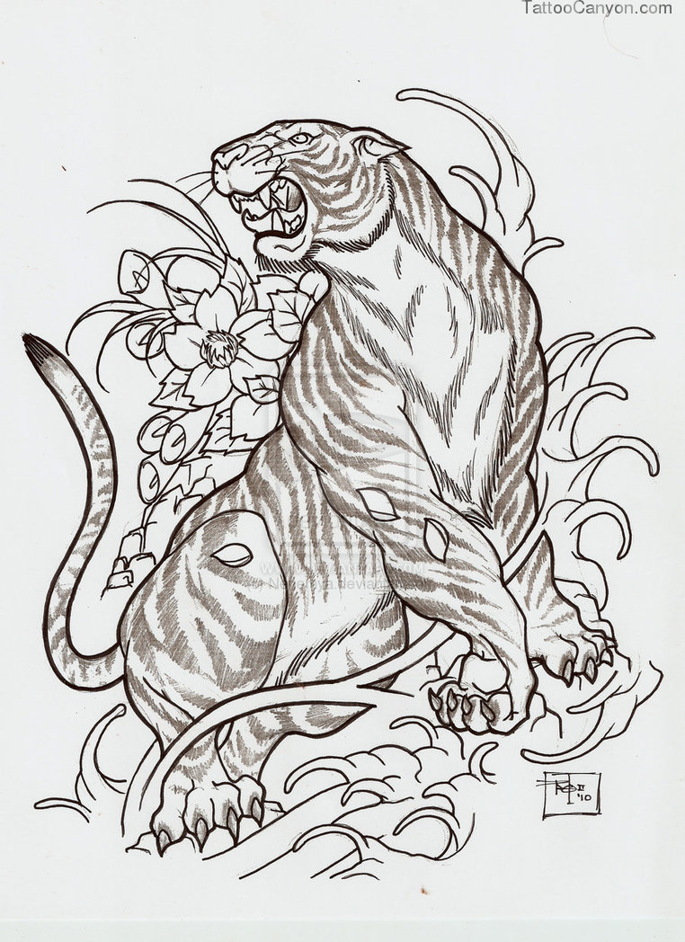 Japanese Tiger Tattoo Drawings