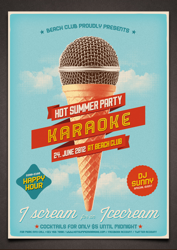 14 Karaoke Flyer PSD Template Images