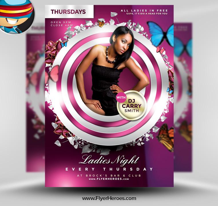 Ladies Night Club Flyer Templates