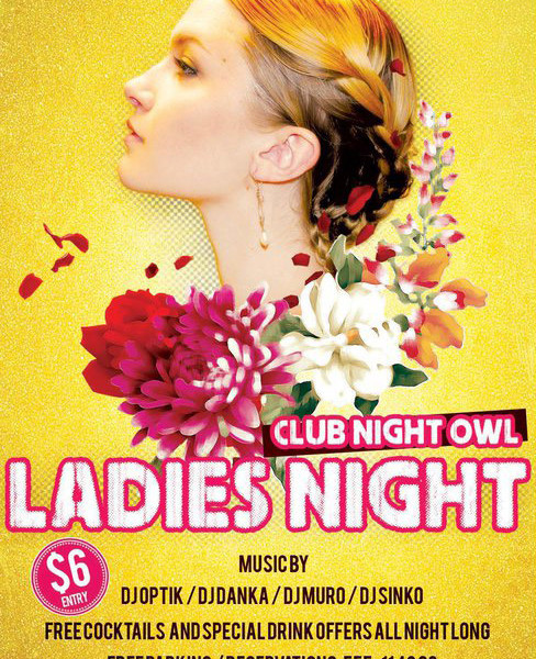 18 Probably Free Ladies Night Flyer Template PSD Images